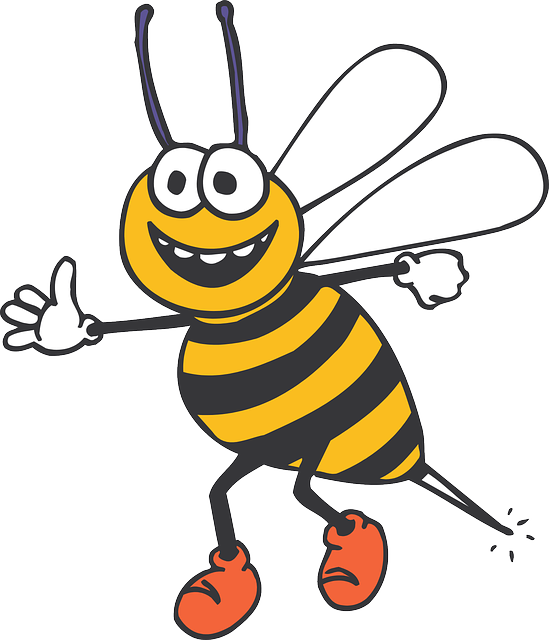 Uśmiechnieta pszczoła